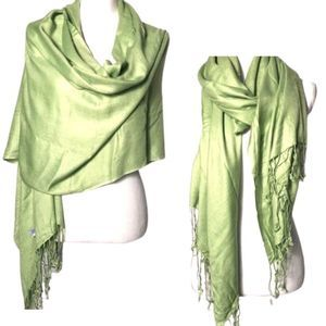 Lime Green Polyester Lightweight Scarf/Wrap-27x82